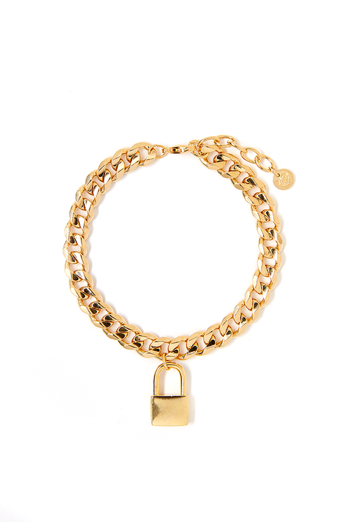 Tess+ Tricia Lock Charm Bracelet / EQUATION Boutique