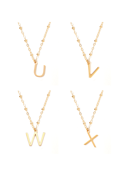 Tess + Tricia Initial Letter Higgie Necklace / EQUATION Boutique