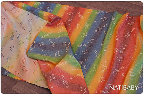 Metamorphosis Wrap Conversion Ring Sling (L) Natibaby Rainbow Song