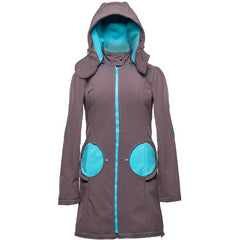 Liliputi Mama Coat - Grey and Turquoise *IN STOCK*