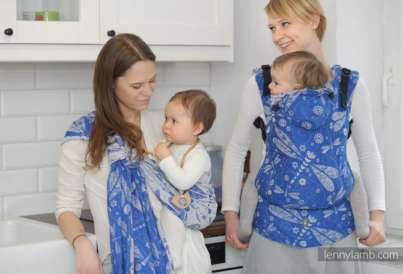 LennyLamb Dragonflies Blue/White Baby Carriers