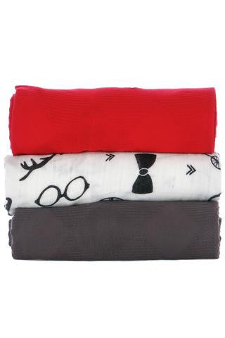 TULA Baby Blanket (3 Pack) Hipster