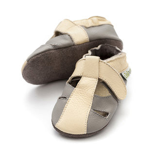 Liliputi Soft Sole Sandals: Atacama Grey