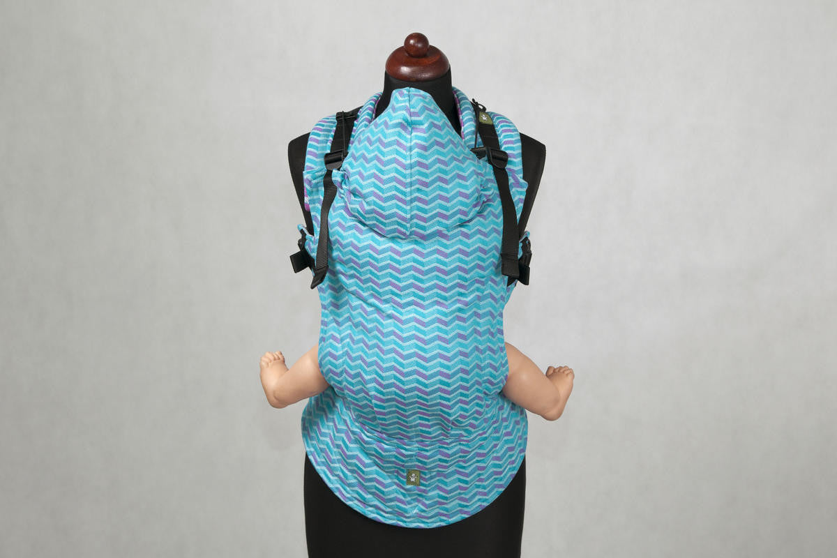 LennyLamb Turquoise & Pink Zigzag Baby Carriers