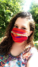 Load image into Gallery viewer, Customer wearing serape mask.
