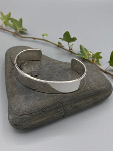 Sterling Silver cuff, flat polished finish