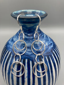 Sterling Silver fancy wire drop earrings