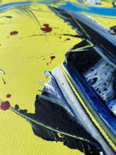 Load image into Gallery viewer, Ginny-St-Lawrences-Painting-yellow-blue-red-splatter