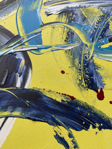 Ginny-St-Lawrences-Painting-yellow-blue-red-splatter