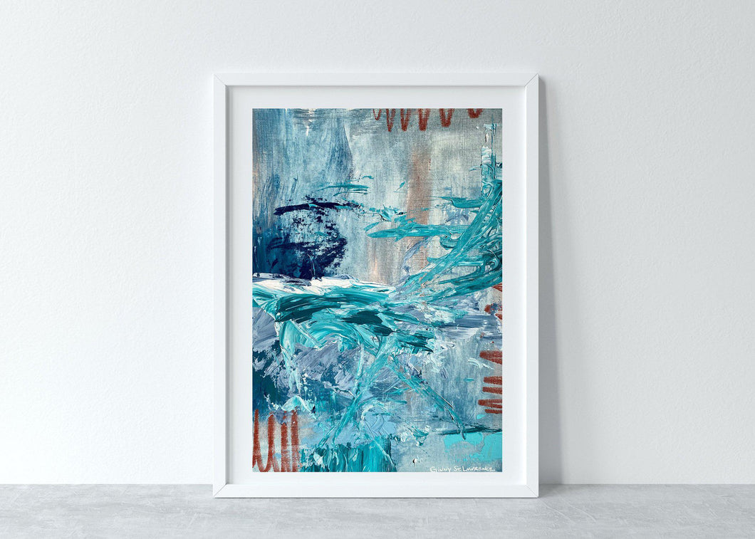 Wicked Swell - Original Abstract Art-GINNY ST. LAWRENCE