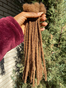Full Set of 73 Honey Blonde Locs .5cm thick 11-12in long