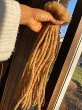 Load image into Gallery viewer, 40 Golden Blonde Locs .5-.6cm thick 15-16in long