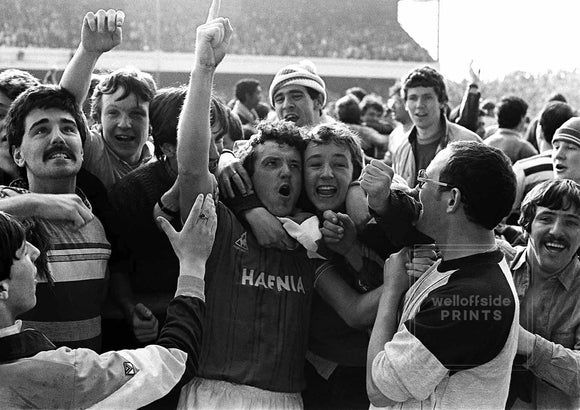 John Bailey and fans - F.A.Cup semi-final - 1984
