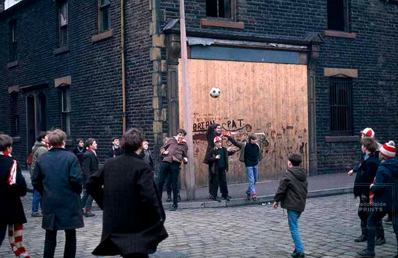 United supporters in the streets - Burnley v Manchester United - 1967