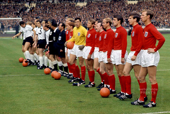 Minutes before the 1966 World Cup Final Gerry Cranham was the only photographer to get up close to the teams on the Wembley pitch.