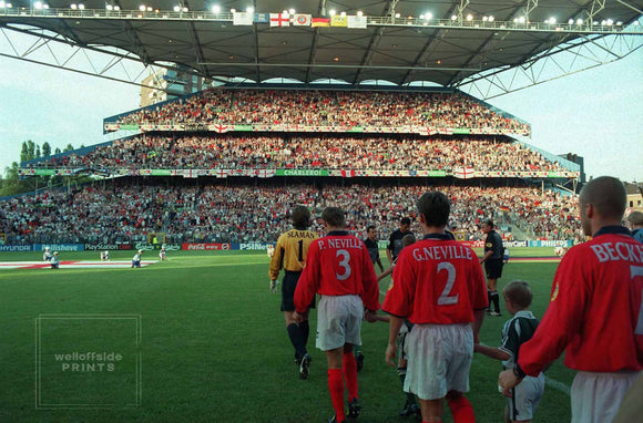 The England Team walk out -  EURO 2000