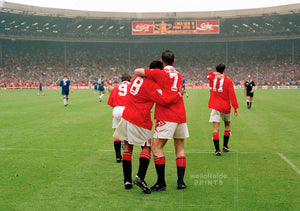 Eric Cantona and Paul Ince - FA Cup Final - 1994