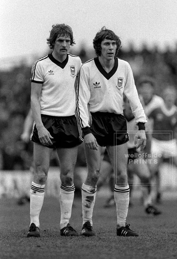 Thijssen and  Muhren - Nottingham Forest v Ipswich Town - 1981