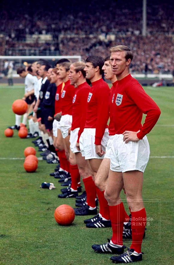England Team Line Up - Jack Charlton - World Cup Final - 1966