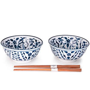 Rice Bowls and Chopsticks for 2