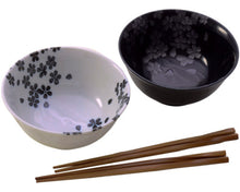 Load image into Gallery viewer, Rice Bowls and Chopsticks for 2