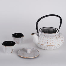 Load image into Gallery viewer, White Cast Iron Tea Set