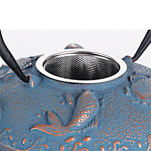Blue Koi Cast Iron Set