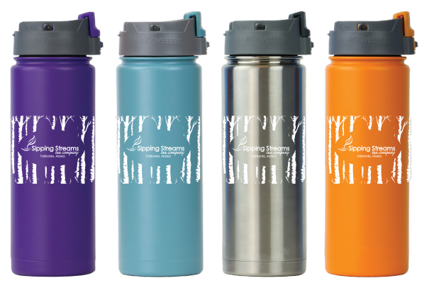 Triple Insulated Tea Travel Mug - Flip Top Lid