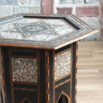 Load image into Gallery viewer, Antique moorish mother of pearl side table
