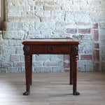 Load image into Gallery viewer, Marble top fruit wood side table