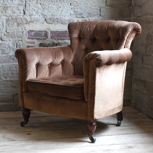 Antique Howard and son's Woodstock style arm chair