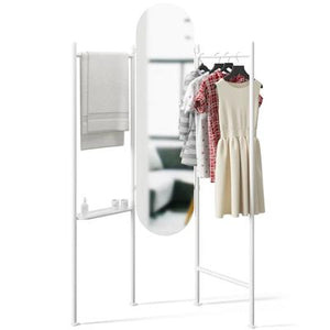 Load image into Gallery viewer, Vala Floor Mirror And Hanger, White