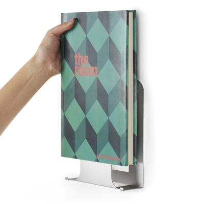 Load image into Gallery viewer, Conceal Vertical Metal Book Display Wall Shelf