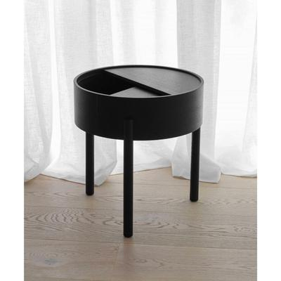 Arc Side Table, Black Painted Ash
