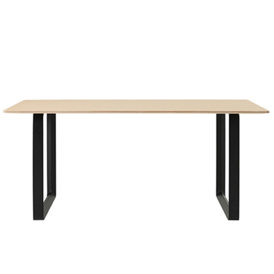 Load image into Gallery viewer, 70/70 Table, Oak Top,  Black Leg