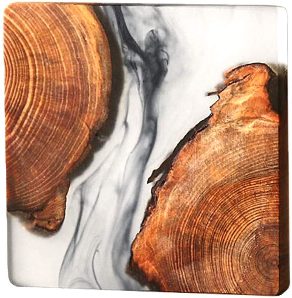Load image into Gallery viewer, Natural Pine Wood and Resin Coaster