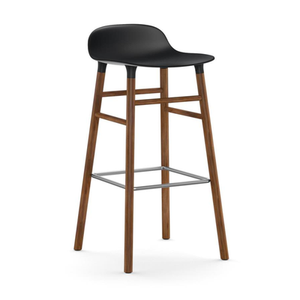 Form Barstool, Walnut