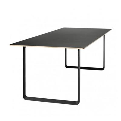70/70 Table, Black Top,  Black Leg