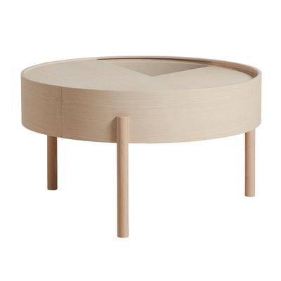 Arc Coffee Table, White Pigmented Ash