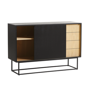 Load image into Gallery viewer, Virka High Sideboard Black