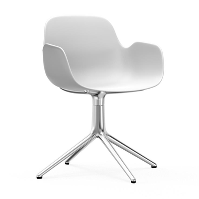 Form Armchair, Swivel, White