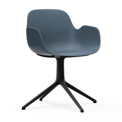 Load image into Gallery viewer, Form Armchair, Swivel, Black