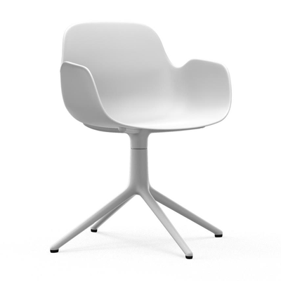 Load image into Gallery viewer, Form Armchair, Swivel, White