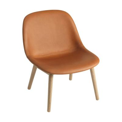 Fiber Lounge Chair, Wood Base, Cognac - Oak