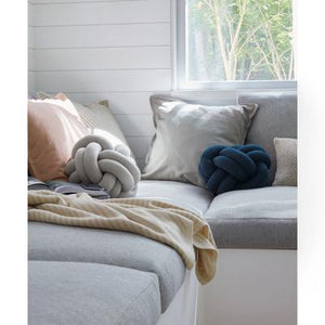 Load image into Gallery viewer, Knot Cushion, White Grey