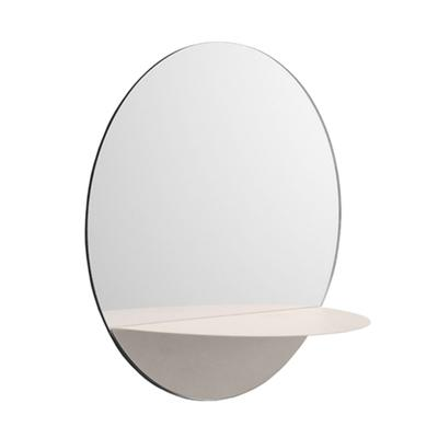 Horizon Mirror Round, White