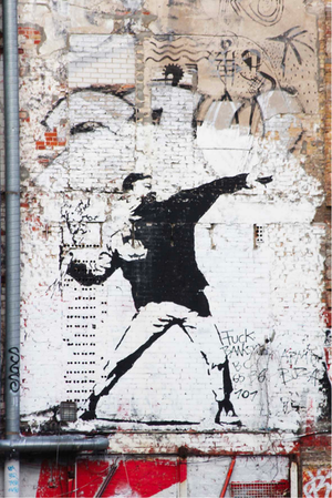 Load image into Gallery viewer, Banksy Love Is In The Air
