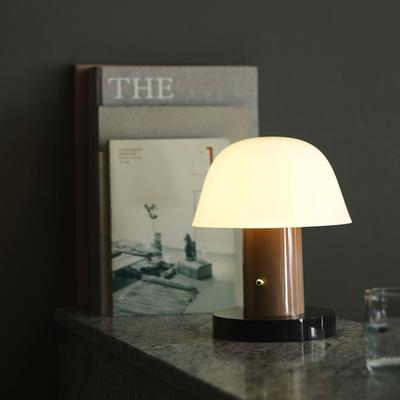 Setago Table Lamp, Nude & Forest
