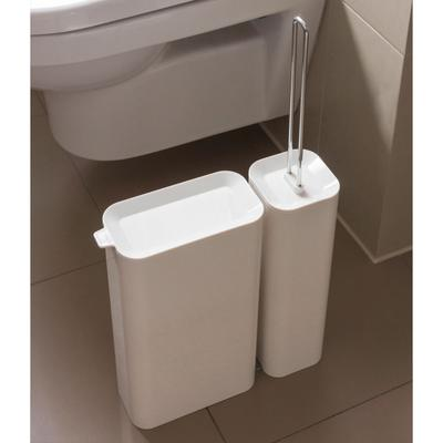 Privy Toilet Brush And Waste Bin Set
