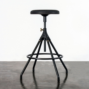 Load image into Gallery viewer, Akron Counter Stool With Leather Seat